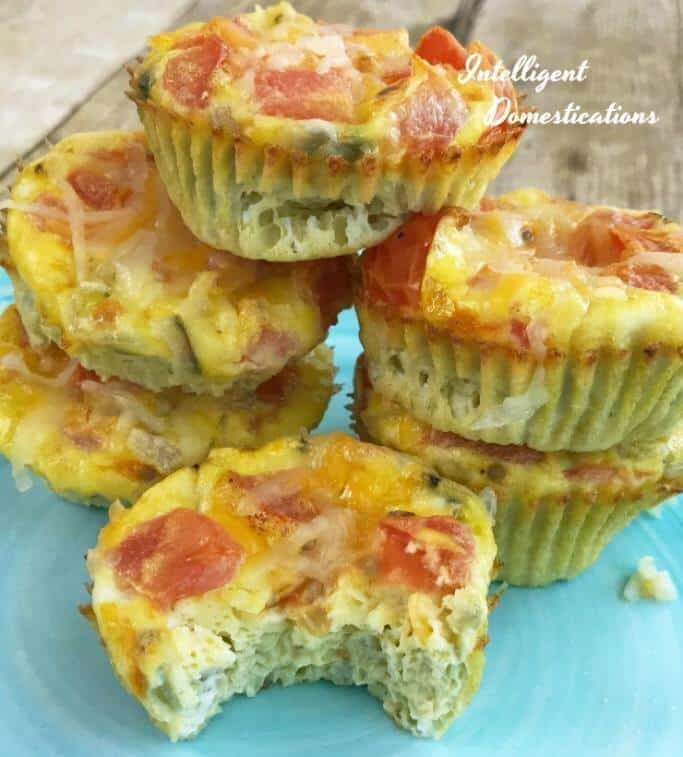 Baked Egg and Veggie Muffin Omelets