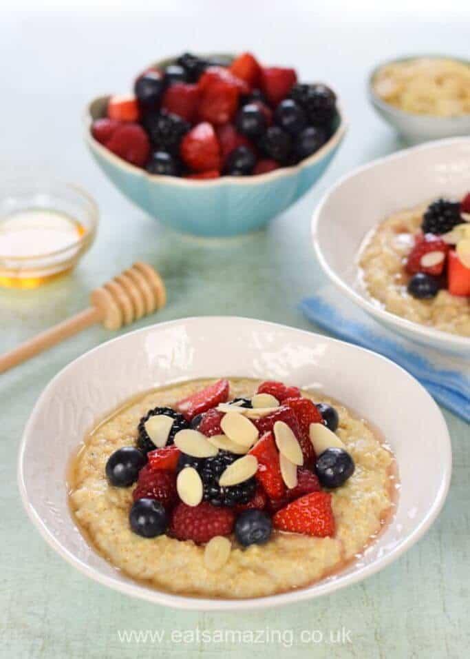 Easy Porridge with Summer Berries