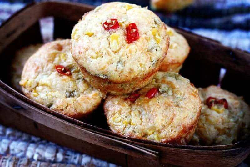 Green Chile and Cheddar Corn Muffins