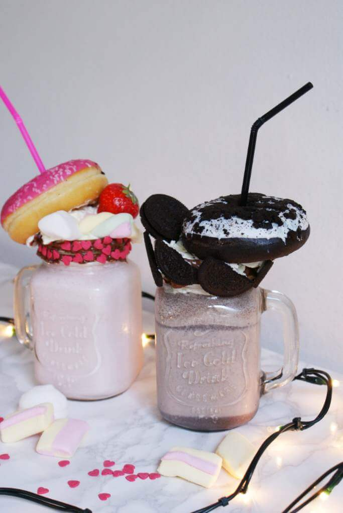 Marshmallows and Oreo Freakshakes