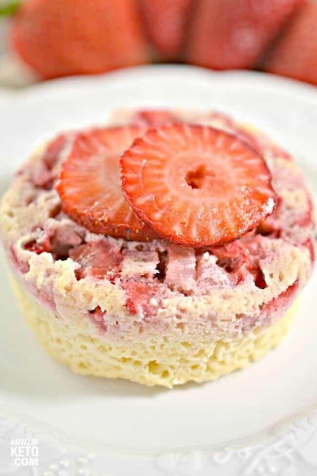 Strawberry Upside-Down Mug Cake