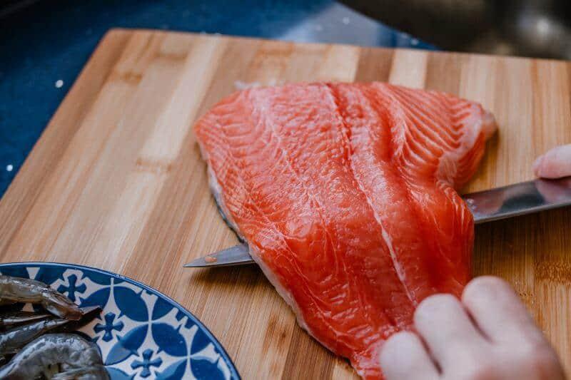 removing fish skin