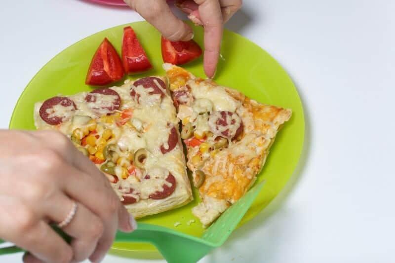 recreating leftover pizza