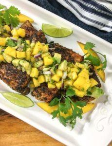 cajun snapper with lime