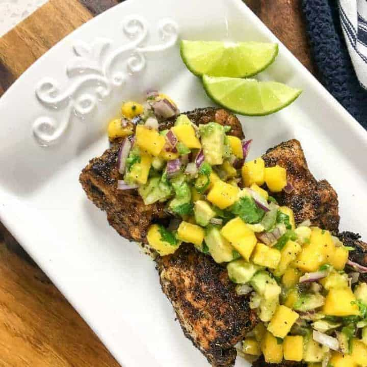 Tangy Cajun Snapper with Salsa