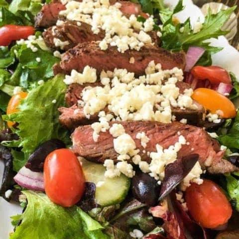 Garden Fresh Greek Steak Salad