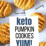 image of pumpkin cookies with cream cheese