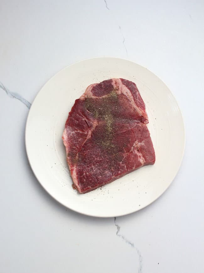 London broil meat with pepper