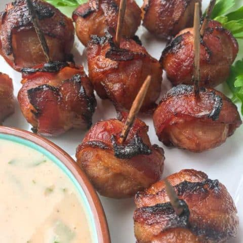 Keto-Friendly Bacon-Wrapped Water Chestnuts with Spicy Mustard Dip