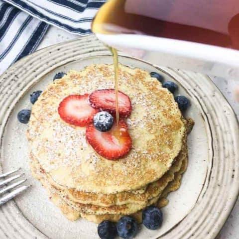 Keto Cream Cheese and Berries Pancake