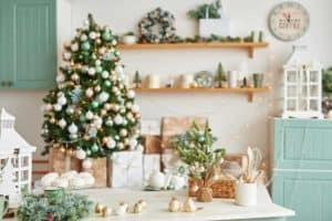 How to Decorate my Kitchen Island for Christmas