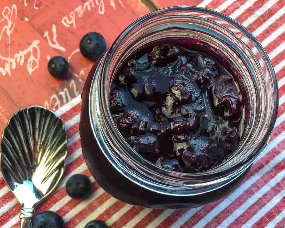 blue berry maple compote