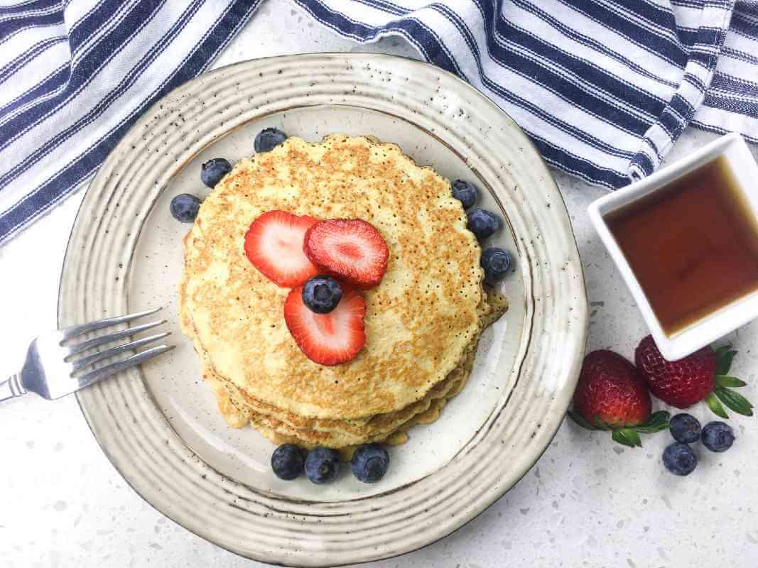 Cream Cheese Berries Pancake