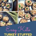 Keto Spicy Turkey Stuffed Mushrooms