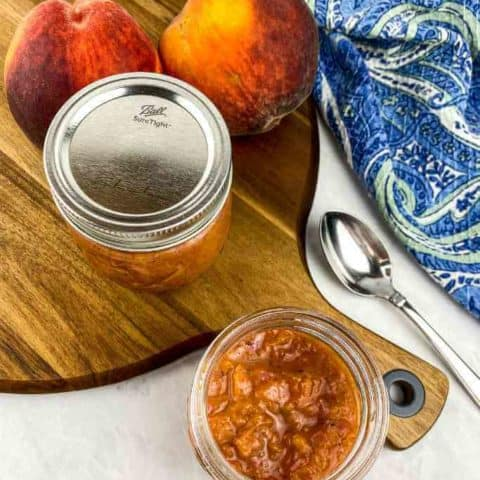 Easy Sweet and Savory Peach Compote