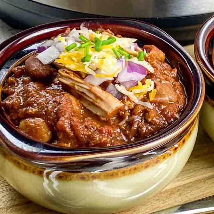 Secret Instant Pot Pulled Pork Chili Recipe