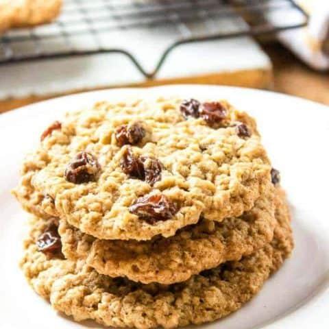 Classic Chewy Oatmeal Raisin Cookies
