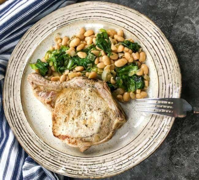 Pork chops white beans