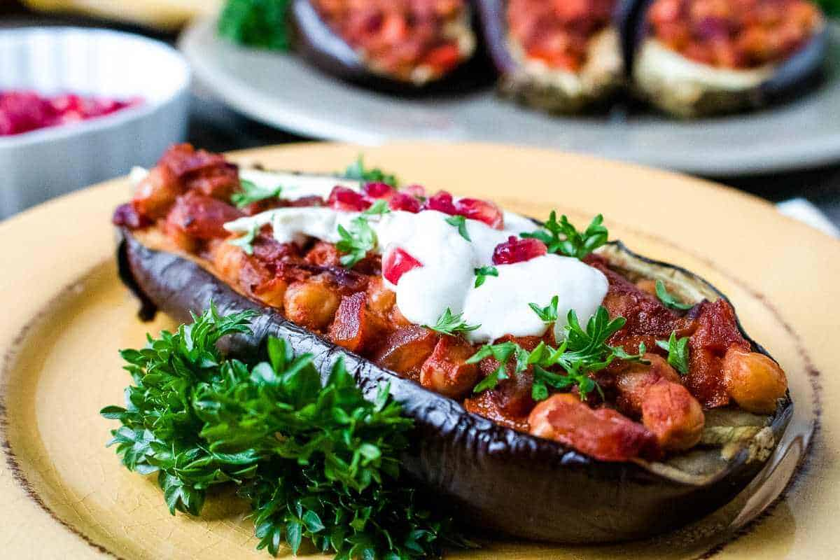 Stuffed Eggplant Tahini