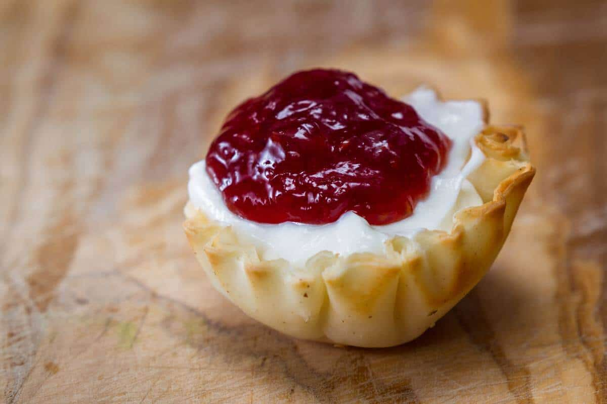 Brie and Dark Cherry Bites