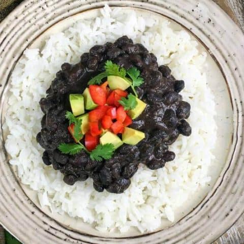 Instant Pot Cuban Inspired Black Beans and Rice