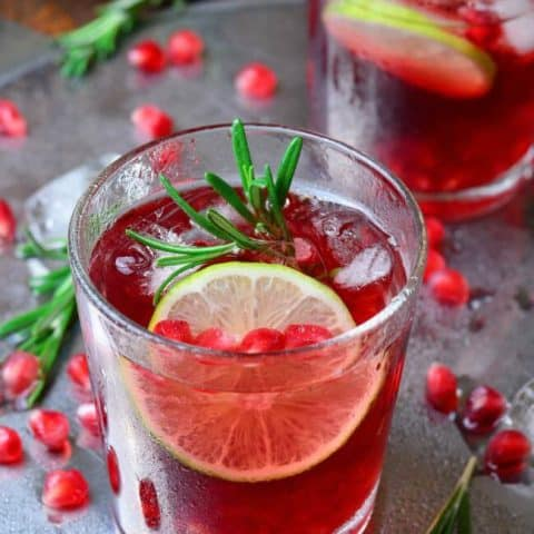 Fizzy Pomegranate Cocktail