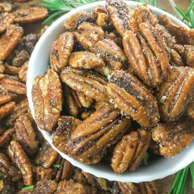 A Bowl Full of Spiced Pecans