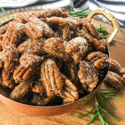 Easy Sweet & Savory Spiced Pecans
