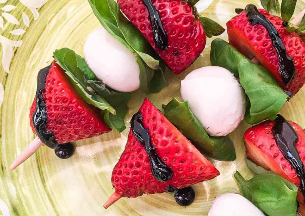 Strawberry Caprese Skewers