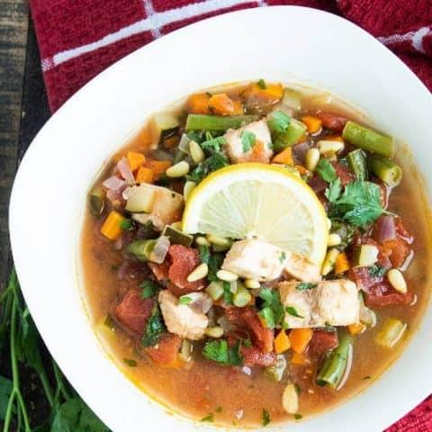 Classic Sicilian Halibut Fish Stew