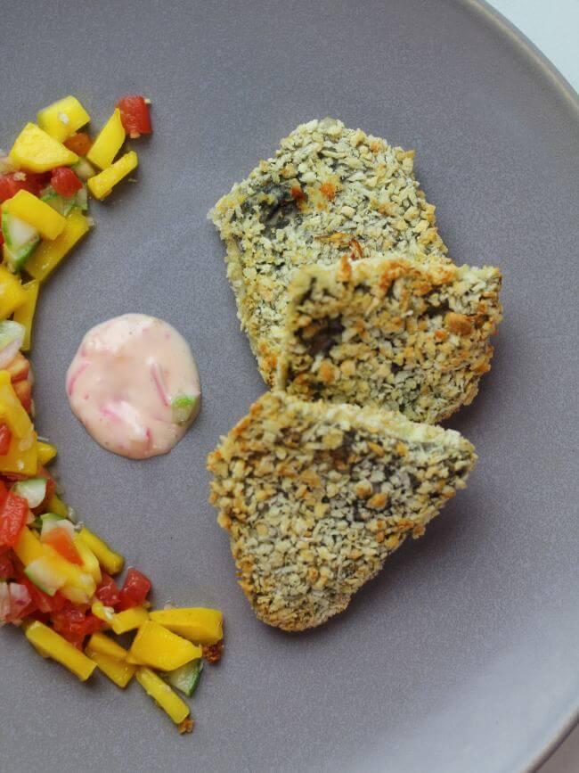 air fryer tilapia with mango salsa