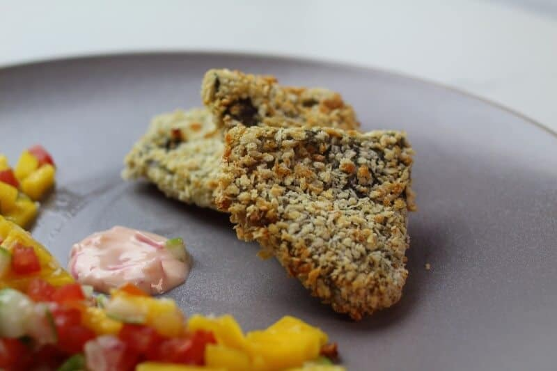 serving of air fried tilapia
