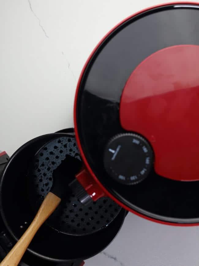 brushing air fryer basket