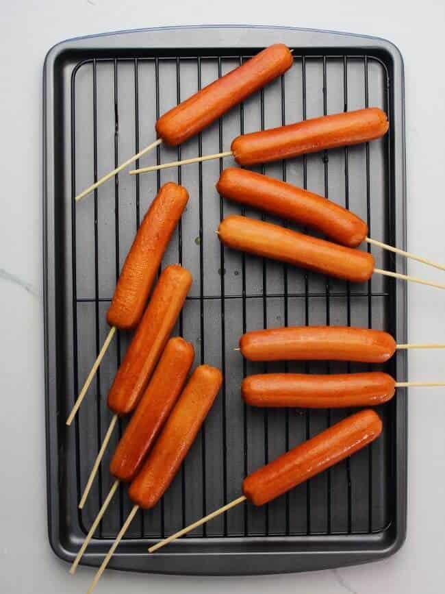 sausages on stick