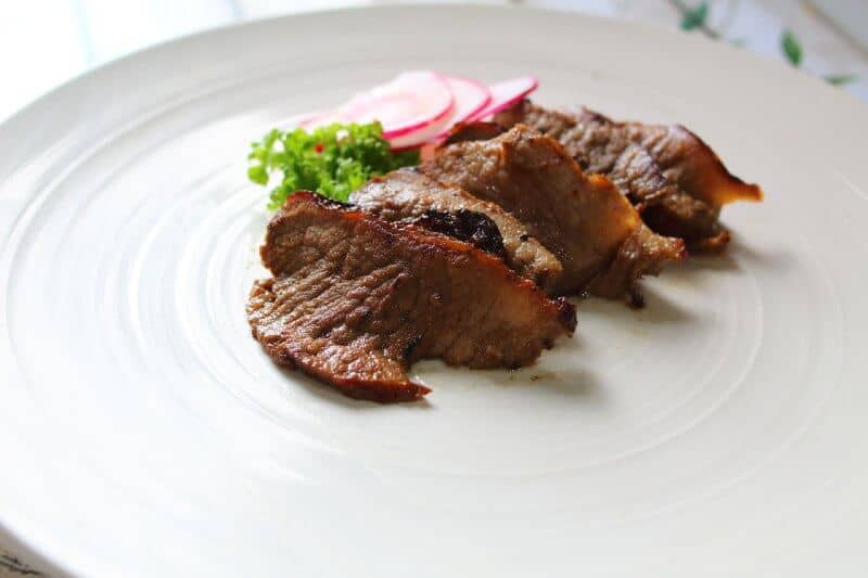 Air Fryer Roast Beef Serving