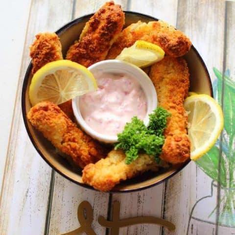 Fish Sticks In Air Fryer Thumbnail Recipe