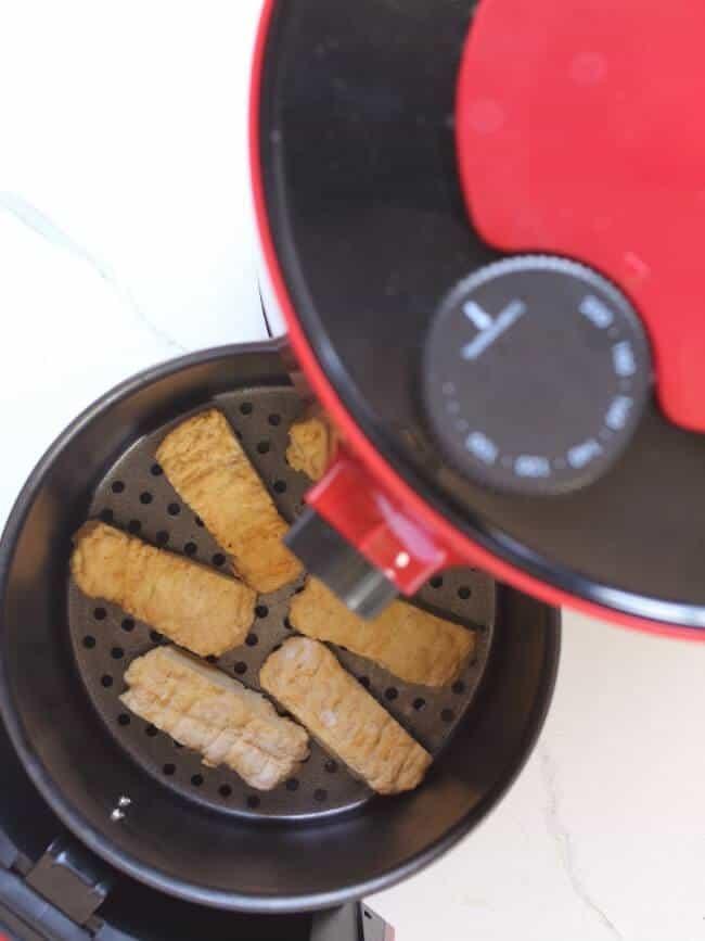 Chicken Tenders in Air Fryer Basket