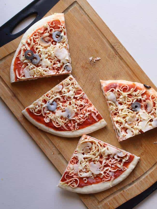 Frozen Pizza Slices