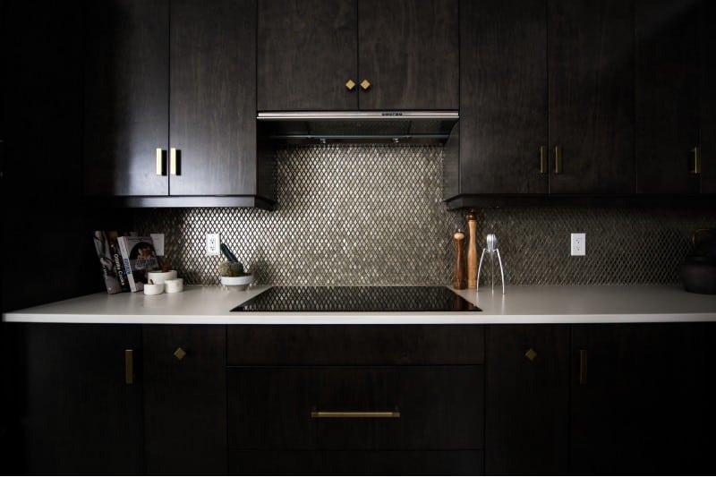 black themed kitchen