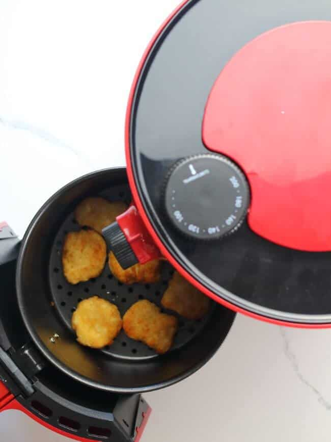 Chicken nuggets cooked in the air fryer