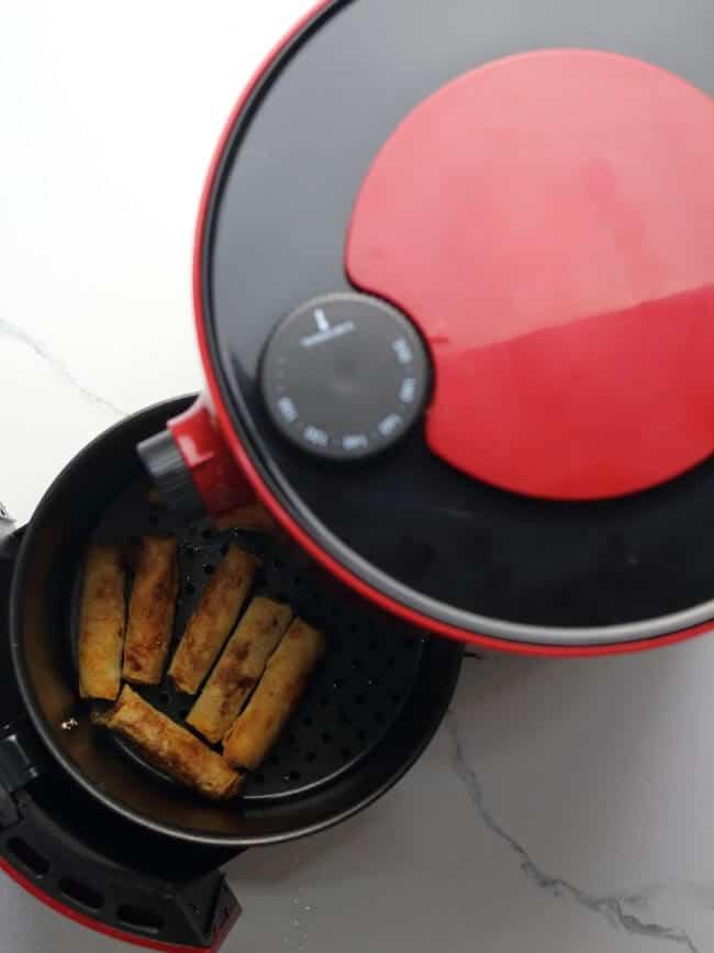 Crisp egg rolls in air fryer