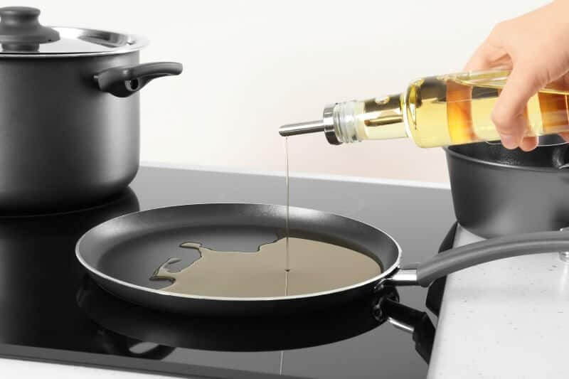 griddle pan with oil