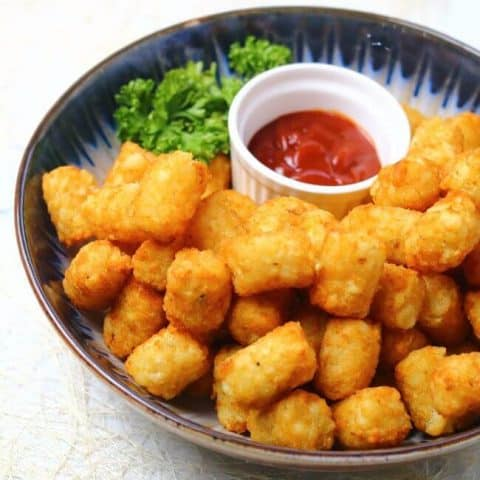 tatter tots with ketchup