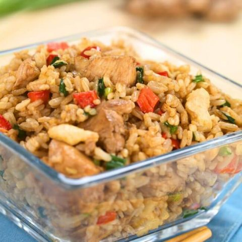 Benihana fried rice in a bowl