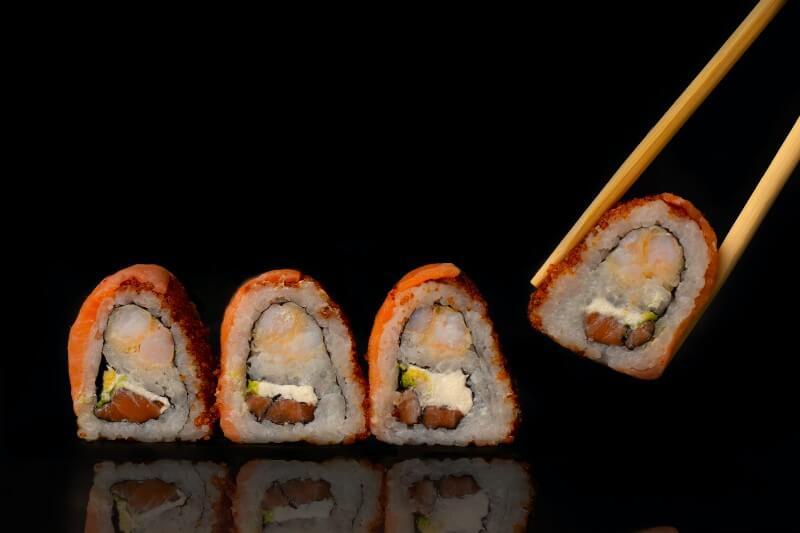 Delicious Sushi With Masago