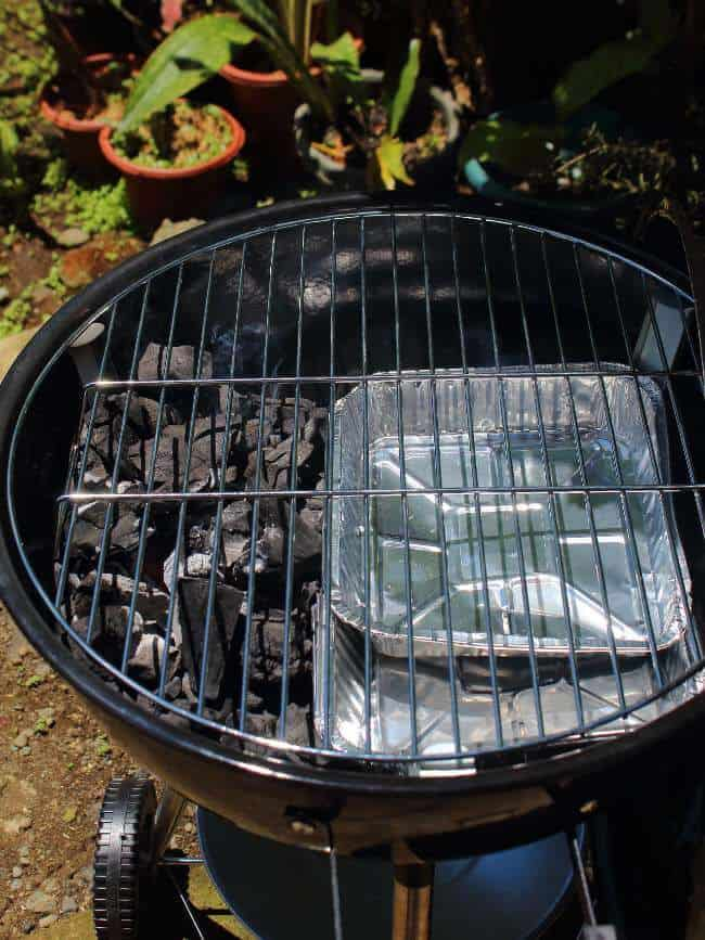 Pre heating grill