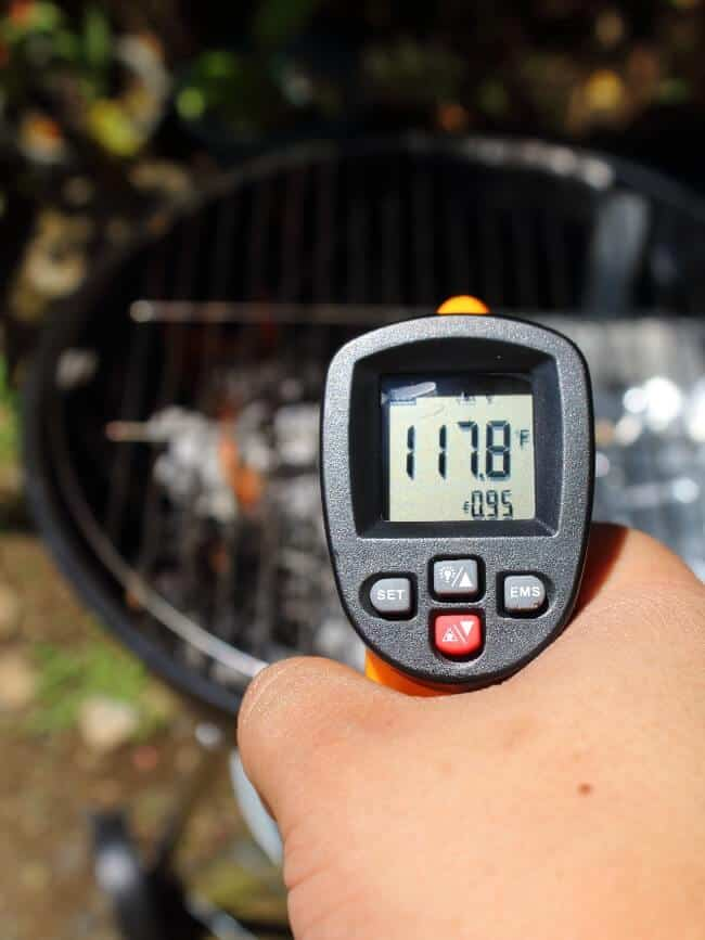 checking temperature between 115 to 120 D C