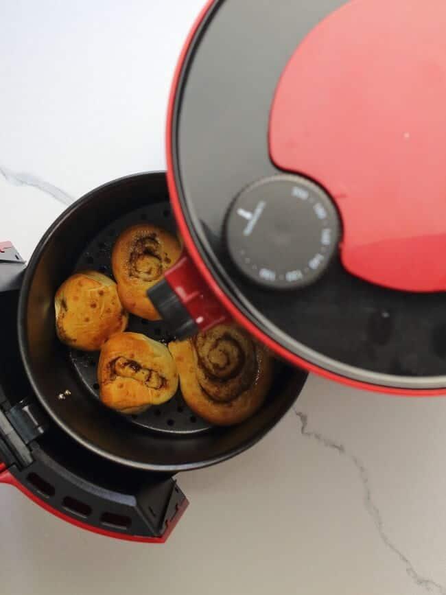 air fried cinnamon rolls