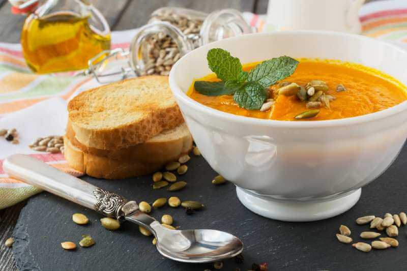 vegetable soup with carrots and potatoes
