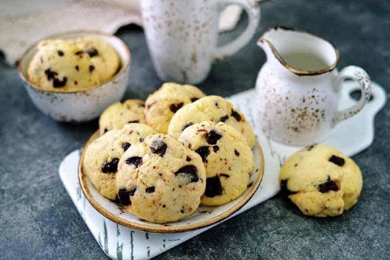 chewy cookies with chocolate chunks